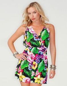 Mikala Cottage Garden Print Playsuit By Motel
