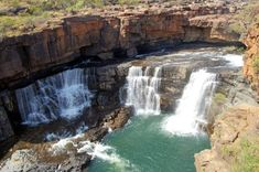 Mitchell Falls, a spectacular chain of 4 waterfalls, is located in the main natural attraction of the Mitchell Plateau region. It is accessed via the Mitchell Perth, Mitchell Falls, Les Cascades, Main Attraction, Paradis, Countries Of The World, Western Australia, Nature, Waterfall