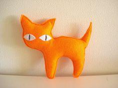 Orange Kitty by cronopia6 on Etsy, $8.00