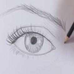 Hoe Teken je een Oog? ja deze is wat makelijker na te tekenen