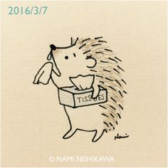 784 鼻水… I have a runny nose. Hedgehog Art, Hedgehog Tattoo, Hedgehog Drawing, Cute Hedgehog, Pencil Art Drawings, Easy Drawings, Drawing Sketches, Hedgehog Illustration, Kawaii Doodles