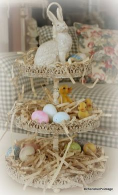 And yet MORE ideas to add to my Easter! I had the whole blue and green and bird nest thing planned...and the book pages will just add to it perfectly!! ~bzb