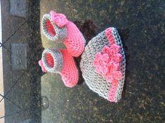 Baby booties & hat