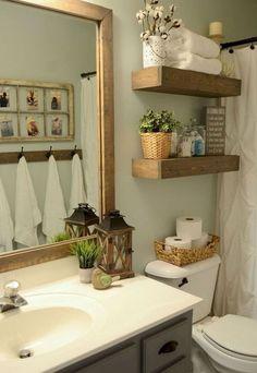 Nice 55 Best Modern Farmhouse Bathroom Decor Ideas. #ModernFarmhouseBathroomDecor