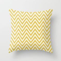 SUNSHINE - YELLOW CHEVRON Throw Pillow