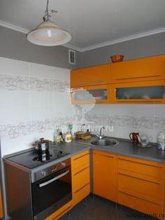 #Orangestyle кухня, 8 кв.м, в двухкомнатной квартире