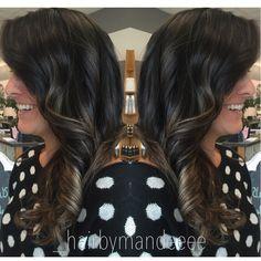 Side view. #behindthechair #modernsalon #styleyourstory #stylistsupportstylist #cilantrohairspa #cosmetology #hairpainting #balayage