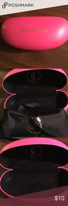 Juicy Couture Glasses Case Great condition!! Juicy Couture glasses case pink Juicy Couture Accessories Glasses
