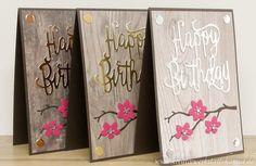 Kreativwerkstatt Karin Müller, Stampin' Up!, Happy Birthday Karten,  Holzdekor