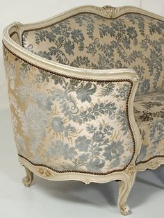 French Tapestry Upholstery Fabric Louis Xv Grand Canape Antique Canapes Stools Inessa