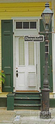 French Quarter Door - 10 Photograph  - French Quarter Door - 10 Fine Art Print