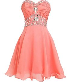 Customized Luscious Sleeveless Homecoming Dresses, Pink Sleeveless Homecoming Dresses, Short Homecoming Dresses, Lovely Short Beading Chiffon Strapless Cute Homecoming Dresses For Teens Strapless Homecoming Dresses, Strapless Cocktail Dresses, Hoco Dresses, Dresses For Teens, Dance Dresses, Pretty Dresses, Beautiful Dresses, Formal Dresses, Strapless Dress