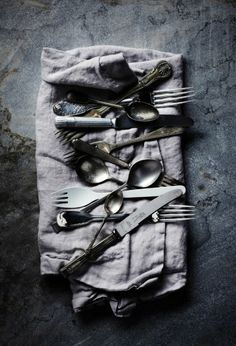 Love these silverware shots. Styling by Glen Proebstel