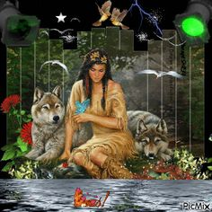3489552_07116.gif (500×500) Native American Pictures, Native American Tribes, Native American History, Beautiful Gif, Beautiful Scenery, Simply Beautiful, American Indian Art, Animal Totems, Native Indian