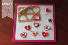 Heart-Shaped Sugar Cookie Felt Board Set | Mama.Papa.Bubba.