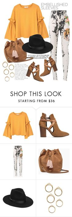 """""""Make a statement"""" by gold-candle23 ❤ liked on Polyvore featuring MANGO, H London, Gucci, UGG, Lack of Color, Trendy, trend, fashiontrend and embellishedsleeves"""