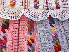 Ravelry: CHAINS BLANKET By BlueSkyOverTheClouds pattern by Barbara CM
