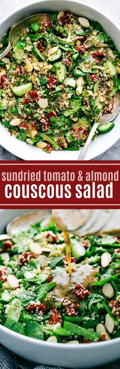 9044 best the most popular recipes on pinterest images on a delicious flavor packed and healthy couscous salad with sun dried tomatoes toasted forumfinder Choice Image