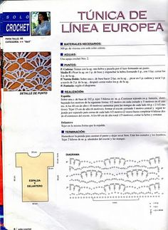 Crochetemoda Blog: Crochet - Blusa Branca
