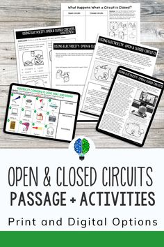 Electrical circuits are a student favorite. They love knowing how electricity makes devices work. Use this set of activities for you next lesson plan. Includes reading passage, sorting activity and a quiz for assessment. Perfect for kids in 4th grade and 5th grade science. 5th Grade Science, Science Student, Elementary Science, Thermal Energy, Electrical Energy, Sorting Activities, Comprehension Questions, Reading Passages, Circuits
