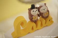 otter LOVE Wedding Cake Topper by kikuike on Etsy, $200.00