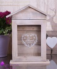 Shabby Chic Wooden Key Rack Cabinet Cupboard KEYS Holder Storage Home Sweet Home - ebay - --- en peignant le grillage ????