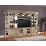 "Parker House - Allure 6 Piece Library 60"" Bookcase Entertainment Unit in Champagne Finish - PAH-ALL-402-412-430(2)-450(2)"
