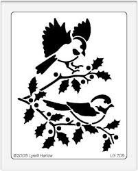holly stencil - Google Search