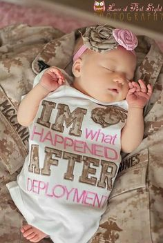 "USMC newborn ""im what happened after deployment"" #marines #photography"