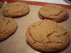 Big Soft Ginger Cookies!!! So Good with a Glass of Cold Milk!