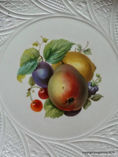 Meissen Pear Fruit Charger Plate 19th Century Botanical | eBay