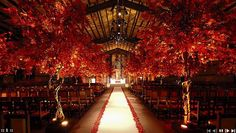 Red Fall wedding