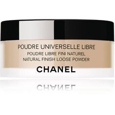 CHANEL POUDRE UNIVERSELLE LIBRENatural Finish Loose Powder (5605 RSD) ❤ liked on Polyvore featuring beauty products, makeup, face makeup, face powder, chanel face makeup, chanel, loose face powder and chanel face powder
