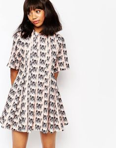 Shop Paul and Joe Sister Belinda Dress In All Over Cat Print at ASOS. Paul Joe, Paul And Joe Sister, Pretty Outfits, Pretty Dresses, Cat Dresses, Style Wish, Models, Holiday Fashion, Rock
