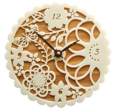 Kirie clock by Bamboo Village - gorgeous!