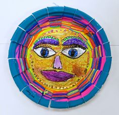 Cassie Stephens: In the Art Room: Mexican Sun/Moon Weavings