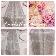 GREY WEDDINGS/ Lace Table Runner 5ft-10ft x by LovelyLaceDesigns