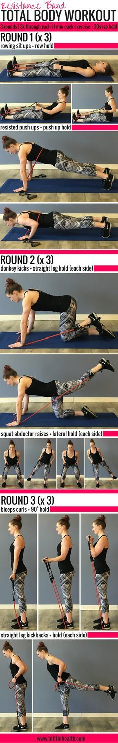 Resistance Band Total Body Workout w/ Isometric Holds
