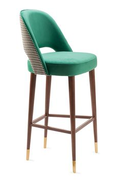 Upholstered Bar Stools. Bar Chairs. Modern Chairs. Restaurant Interior. #restaurantinteriors #barchair #barstool Read more: https://www.brabbu.com/en/inspiration-and-ideas/world-travel/sophisticated-upholstered-bar-stools-want