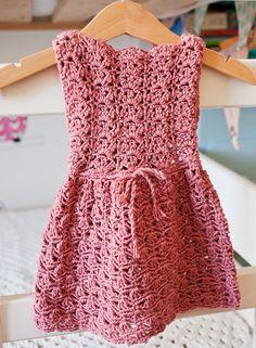 Crochet PATTERN Scalloped Neckline Lace Dress by monpetitviolon