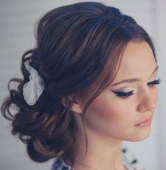 Tonya Pushkareva Long Wedding Hairstyle for Bridal via tonyastylist / http://www.himisspuff.com/long-wedding-hairstyle-ideas-from-tonya-pushkareva/23/