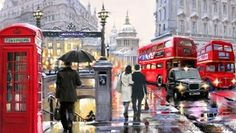 Раскраски по номерам дождливый лондон