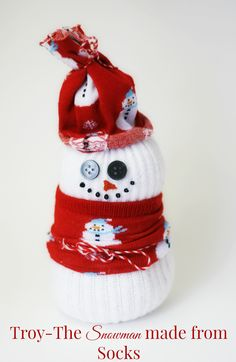How to Make a Snowman From Socks - Cupcakes and Crinoline
