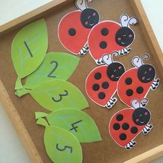 Cute counting lady bugs