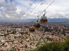 Teleferico in Cochabamba, Bolivia. Such a beautiful way to see Bolivia