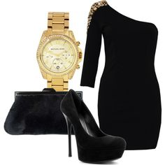 Black & Gold + love the MK watch