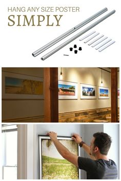 use posterhanger to decorate your home hang a photo exhibition hang posters in your