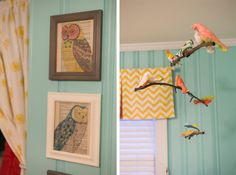 Owl artwork in Brittany Davis nursery (featured on House of Turquoise blog)
