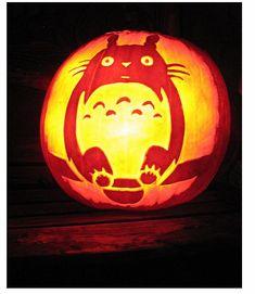 Your friendly neighborhood jack-o-lantern. #Totoro #Halloween