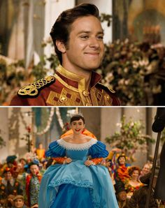Mirror Mirror (2012) Starring: Armie Hammer as the Prince Andrew Alcott and Lily Collins as Snow White. (click thru for larger image)